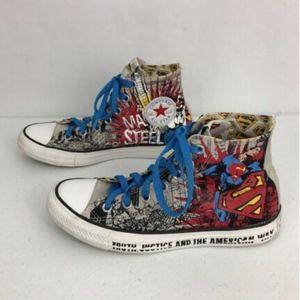 Superman Converse All Star Mens 6/ Womens 8 Shoes
